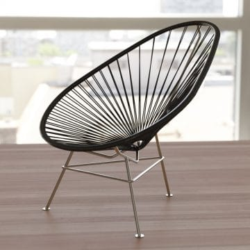 Lounge Stoel Met Hocker.Classic Acapulco Chair Online At Fairfurniture Com