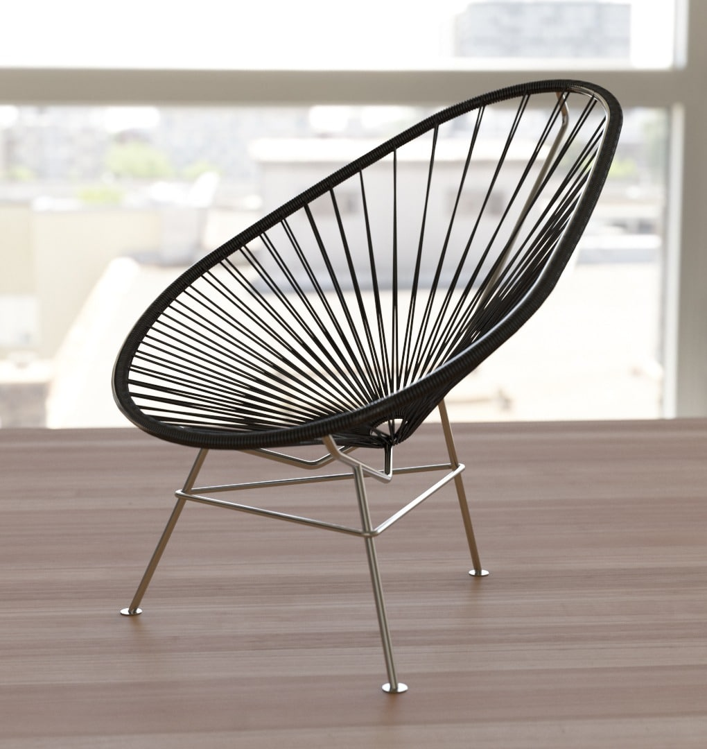 acapulco chair black exclusive edition solid stainless. Black Bedroom Furniture Sets. Home Design Ideas